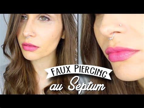 diy tuto faux piercing nasal au septum festival look