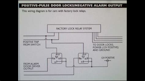 Car Alarm Types by How To Wire A Positive Type Door Locking System With Car