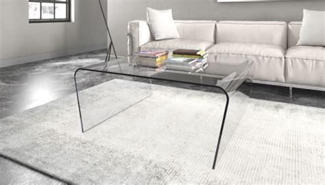 tavoli in vetro per salotto tavolini in vetro design tavolino in vetro curvo sagomato
