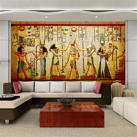 living room wall murals 3d egyptian wall murals vintage photo wallpaper custom