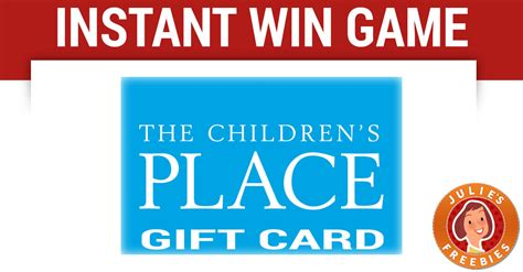 Children S Place Gift Card - children s place super hero instant win game julie s freebies