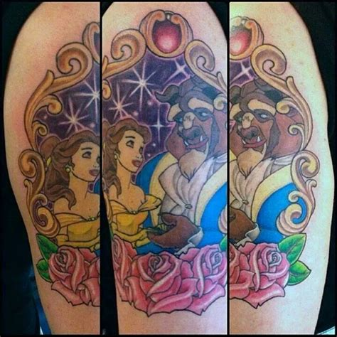 beauty and the beast tattoo designs and the beast disney