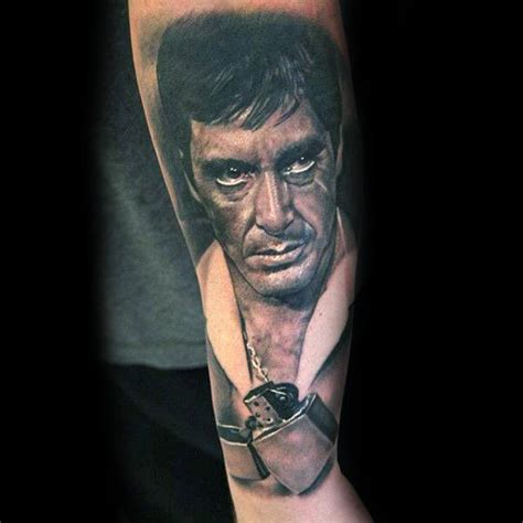 scarface tattoos 40 scarface design ideas for al pacino ink