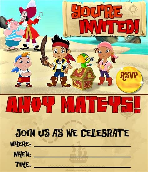 pirate invitations pirates and invitations on pinterest