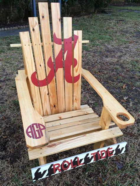 university  alabama custom adirondack chair rolltide