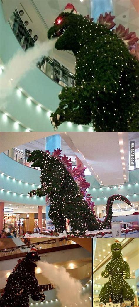 godzilla christmas tree  tokyo mall gag