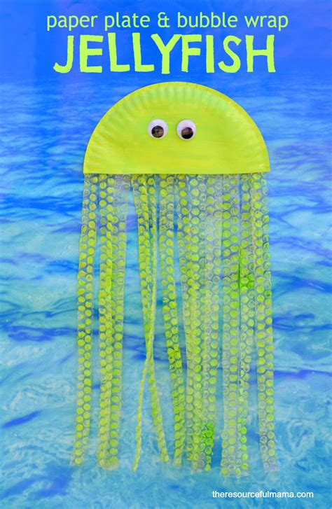 How To Make Jellyfish With Paper Plates - wrap paper plate jellyfish craft the