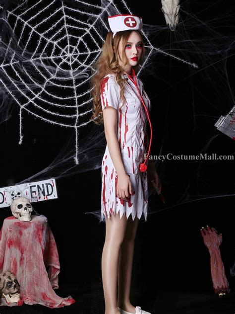 bloody nurse cosplay halloween costume fancy costume mall