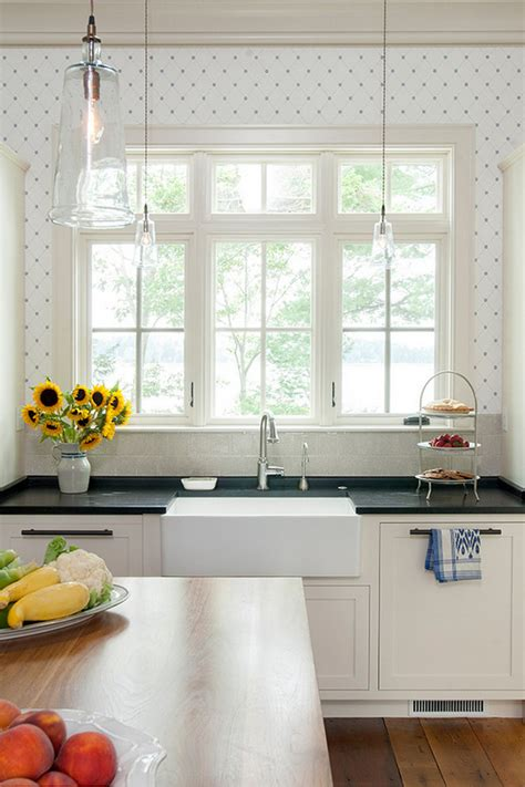 wallpaper in kitchen ideas maine house with coastal interiors home
