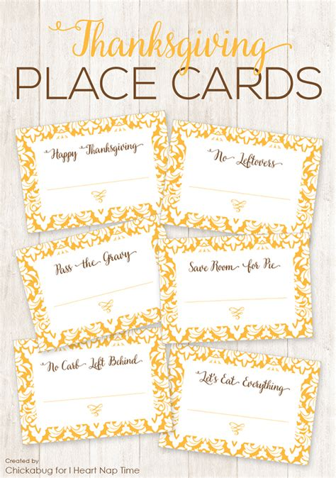 printable thanksgiving cards free printable thanksgiving place cards chickabug