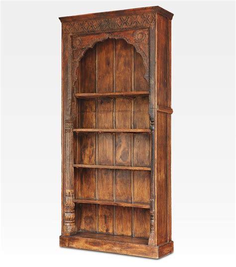 libreria antica libreria indiana intagliata legno di teak cod 0004