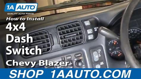 install replace  dash switch chevy  blazer