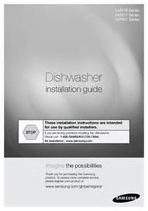 Samsung Dishwasher Manual Dmr77 Samsung Dishwasher Dmr77 Series User S Guide