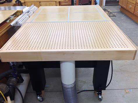 paul s assembly downdraft table the wood whisperer