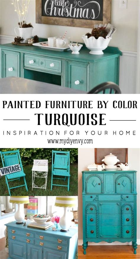 17 best ideas about turquoise painted furniture on