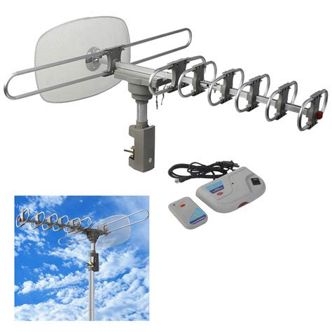 lified digital clear outdoor hdtv hd rotor tv antenna remote 360 rotation uhf ebay