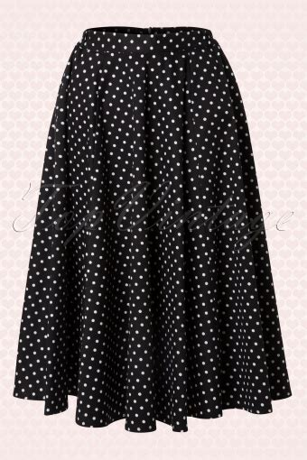 Skirt The Typical Day Swing The Usual Days Pv 0117015 50s polkadot swing skirt in black