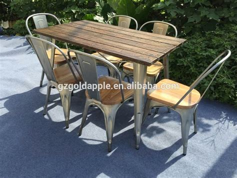 Wooden Garden Bench Coffee Table Outdoor Garden Restaurant Dining Tables Furniture Retro