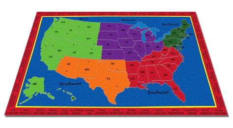 us map rug the united states of america map rug kidcarpet