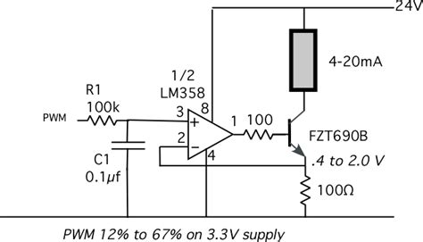calculate resistor for 4 20ma 4 20ma output from propeller parallax forums