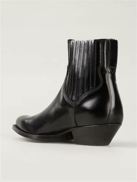saint laurent santiag western boots  black  men lyst