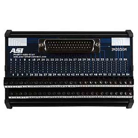 d sub interface module, 50 pin, male: 11008
