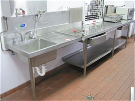 commercial kitchen bench stainless steel commercial kitchen corner bench auction