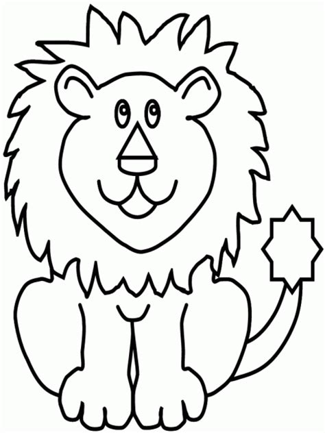 easy coloring pages for 2 year olds moldes y figuras de sucha foami leones