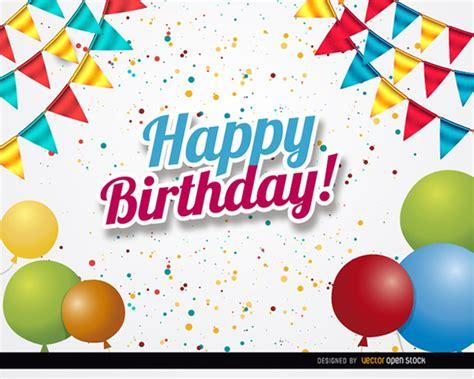 imagenes vectores fiesta saludo fiesta de cumplea 241 os descargar vectores gratis
