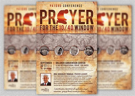 Prayer Conference Church Flyer Template Inspiks Market Prayer Flyer Template