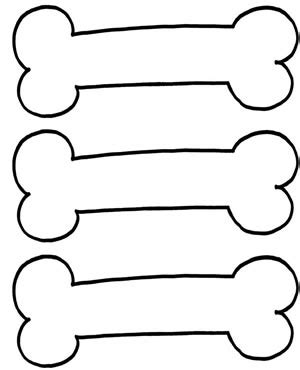 coloring pictures of dog paws coloring dog bones clipart best