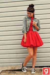 dress with jean jacket and converse my style pinterest