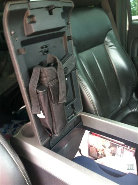 Found a use for cell phone holder inconsole got to see ... F 150