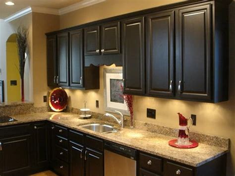 Best Paint Color For Kitchen With Dark Cabinets | kitchen paint colors with dark cabinets home furniture
