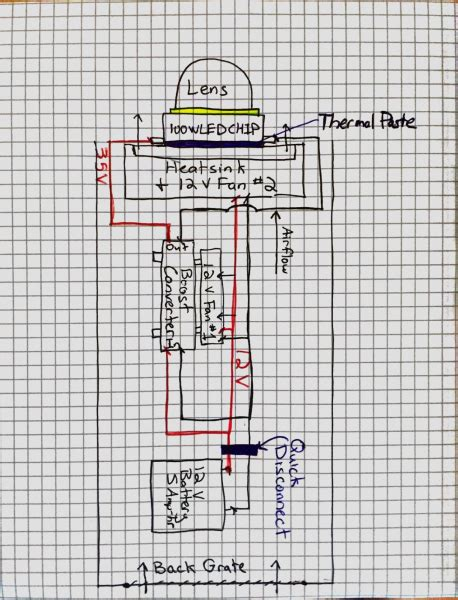 wiring a flashlight diagram