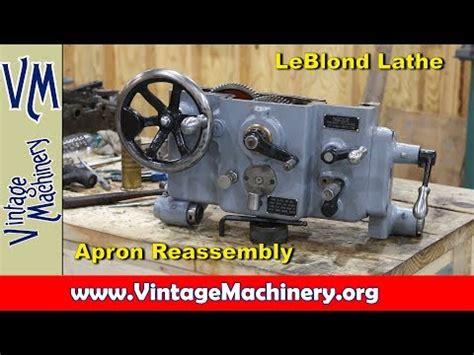 tacoma company blast cabinet upgrade leblond lathe restoration part 9 apron reassembly