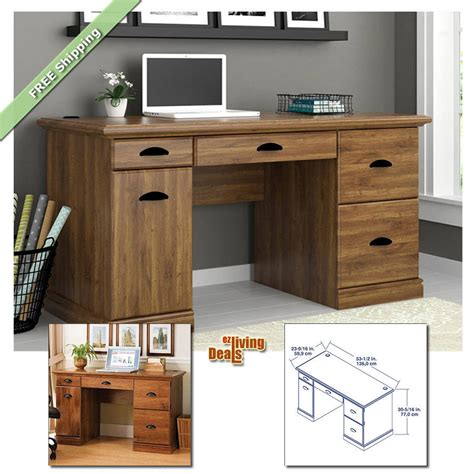 Wood Office Desks For Home Computer Desks For Home Office With Storage Table Wood Furniture Desk Abby Oak Ebay