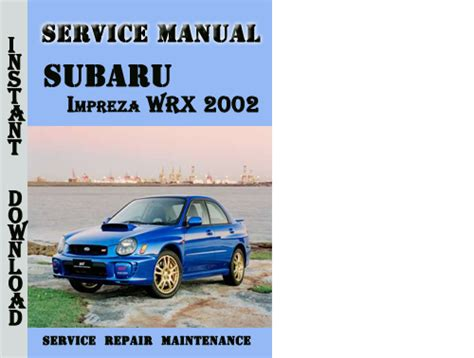 Subaru Impreza Wrx 2002 Service Repair Manual Pdf Download