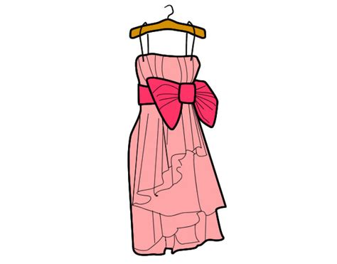 imagenes para colorear vestido dibujo de vestido de fiesta pintado por ciintiia en