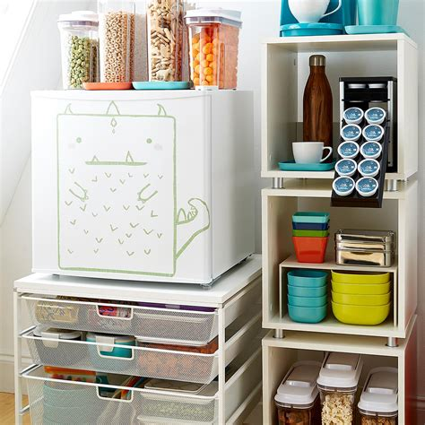 Small Stacking Shelf by Small White Vario Stackable Shelf The Container Store