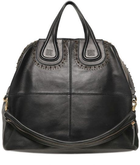 Best Seller Givenchy Nightingale givenchy large nightingale studs nappa top handle in black lyst