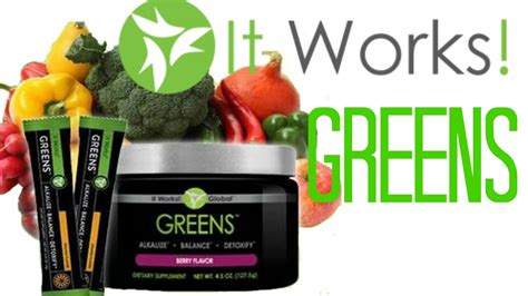 It Works it works greens detoxify with greens