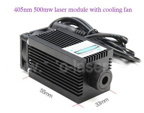 high power laser diode cooling 405nm 300mw 500mw blue violet laser diode module dc 5v 12v with cooling fan support continue