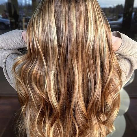 hairstyles with blonde and caramel highlights hair color trends 2017 2018 highlights caramel