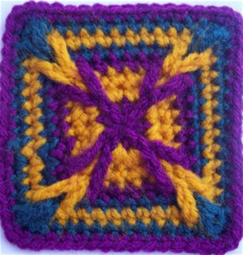 granny square pattern magic ring magic st square allfreecrochetafghanpatterns com