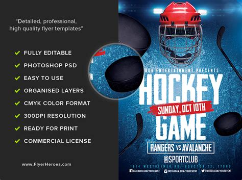 hockey flyer template hockey flyer template 2 flyerheroes