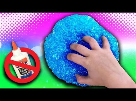 crunchy fishbowl slime without glue! $2 diy face mask