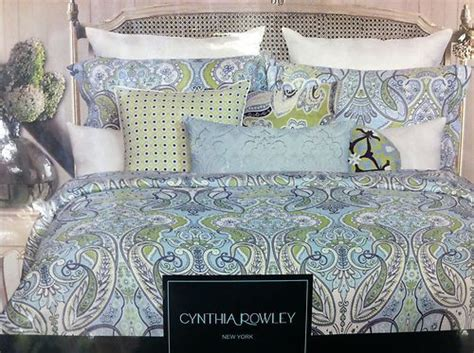 6 pc new cynthia rowley queen paisley floral comforter set