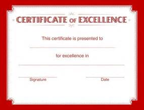 Certificate of Excellence Examples   Free Word's Templates