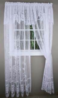 Lace Curtains With Attached Valance Maragret Lace Curtain Panels With Attached Valance Discount Lace Curtain Panels Outs All